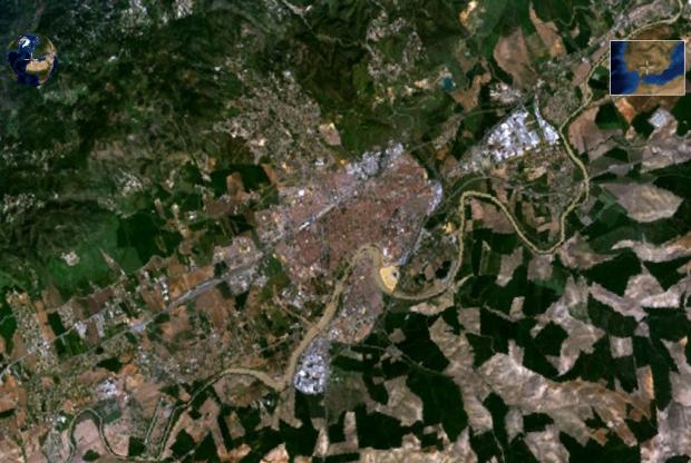 Vista desde satélite de Córdoba
