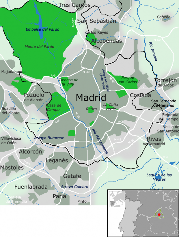 Madrid y municipios colindantes 2007