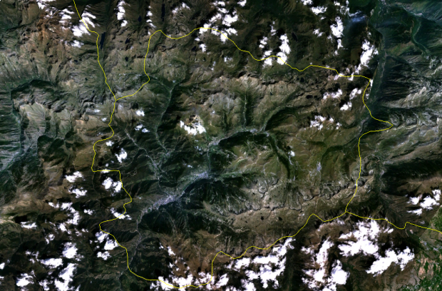 Imagen de Satélite de Andorra