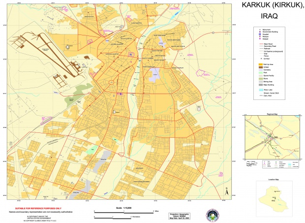 Mapa de Kirkuk 2003