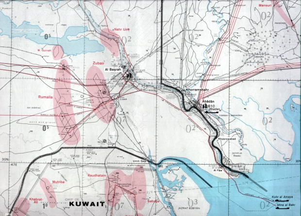 Campos de Petróleo y Gas de la Región de Basora 1980