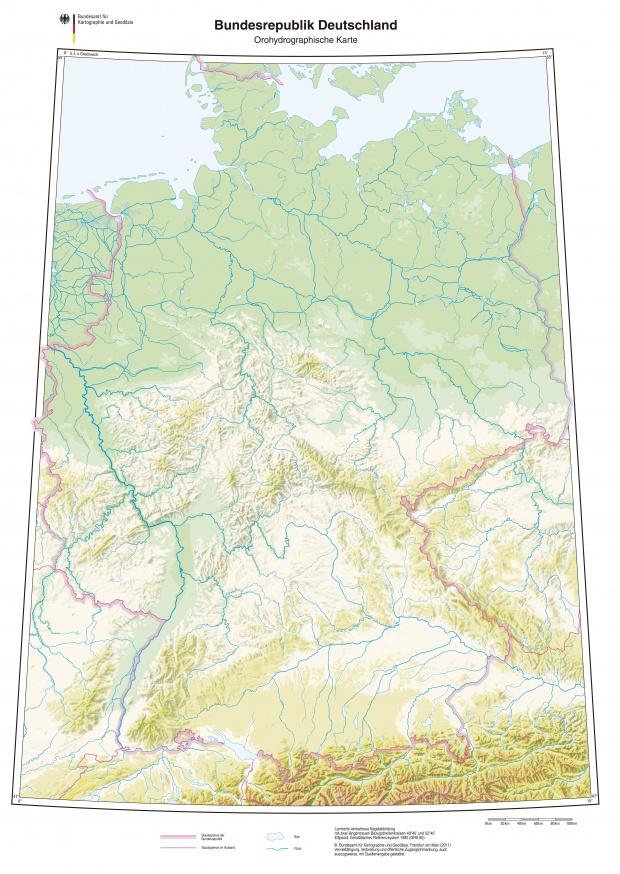 Mapa hidrografico de Alemania 2011