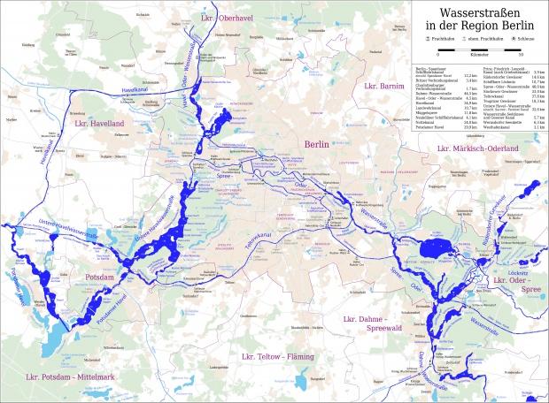 Las vías navegables de Berlín 2008
