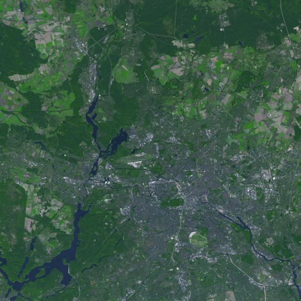 Vista satelital de Berlín 2005