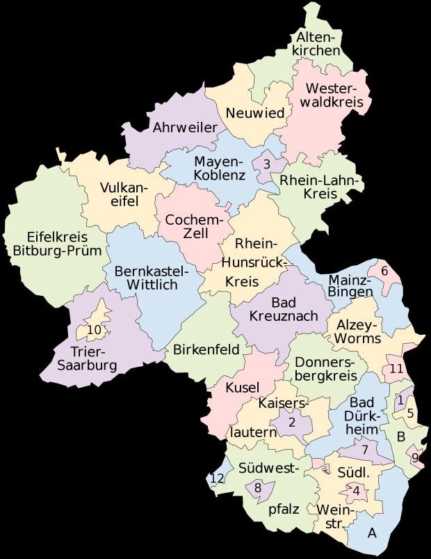 Mapa de Renania-Palatinado 2008
