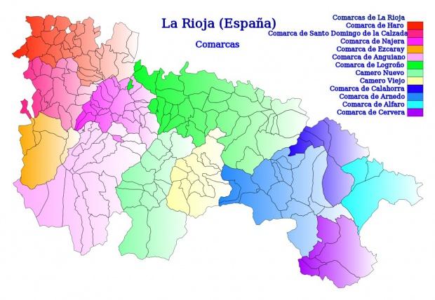 Mapa de Comarcas de La Rioja 2007