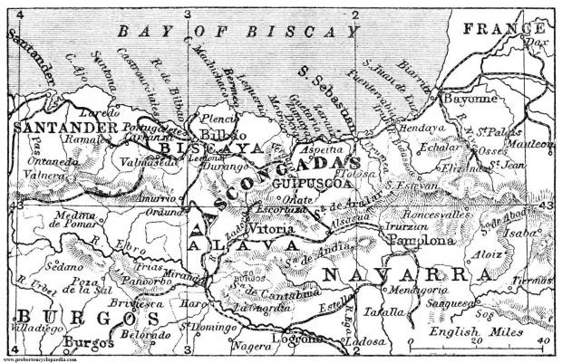 Mapa del País Vasco 1906
