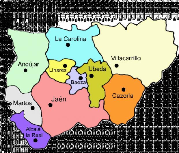 Partidos judiciales de la Provincia de Jaén 2007