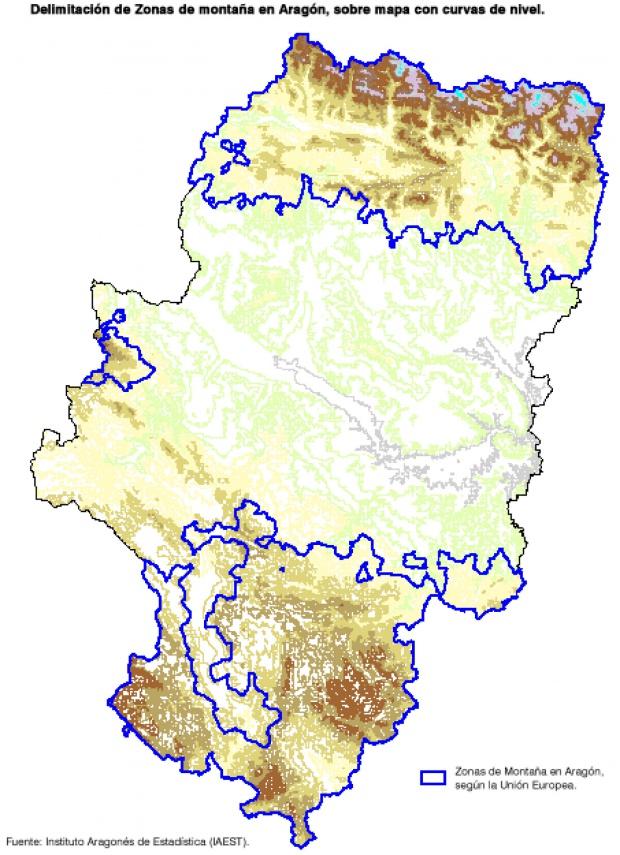 Zonas de montaña en Aragón 2009