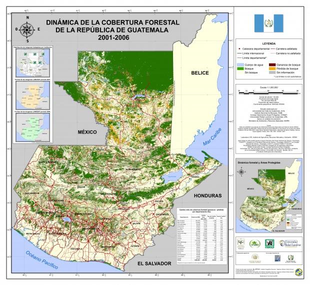 Cobertura forestal de Guatemala 2001-2006