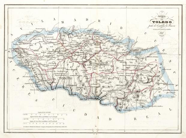 Mapa Politico De Toledo.Mapas Politico De Toledo