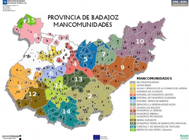 Mancomunidades de la Provincia de Badajoz 2010
