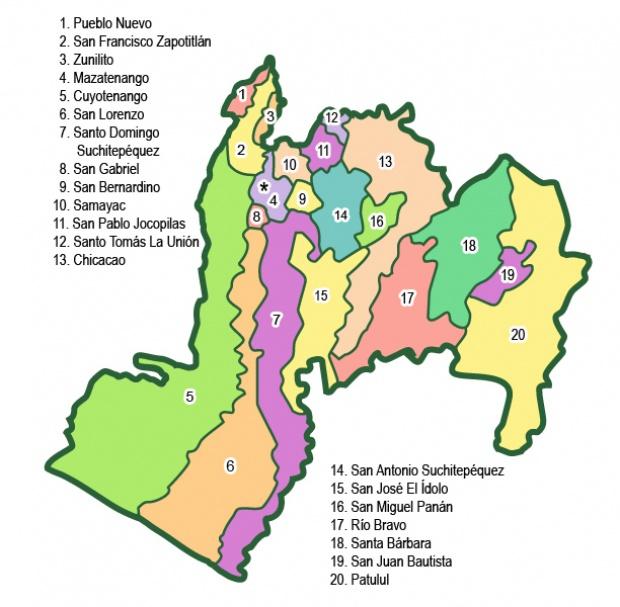 Municipios de Suchitepéquez