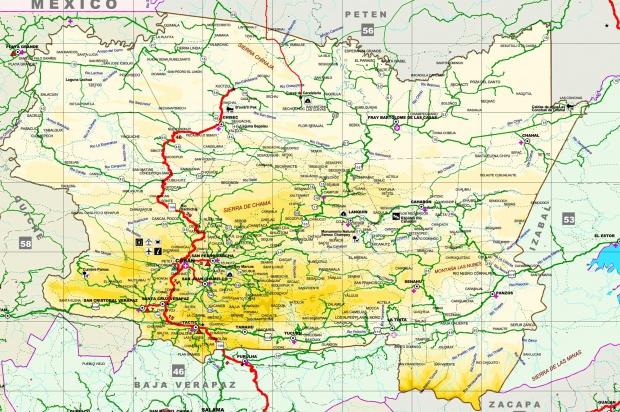 Mapa de Alta Verapaz