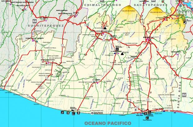 Mapa de Escuintla