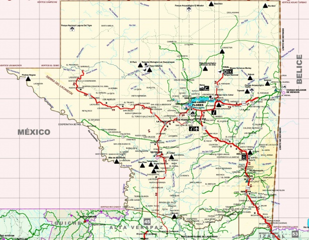 Mapa de Petén