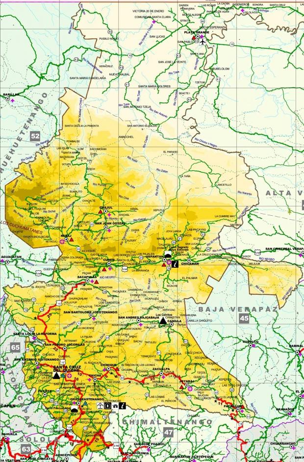 Mapa de Quiché