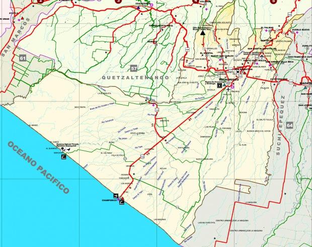 Mapa de Retalhuleu