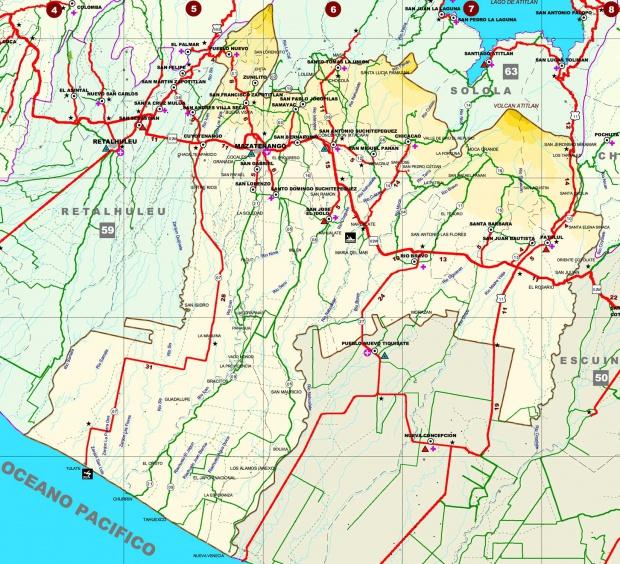 Mapa de Suchitepéquez