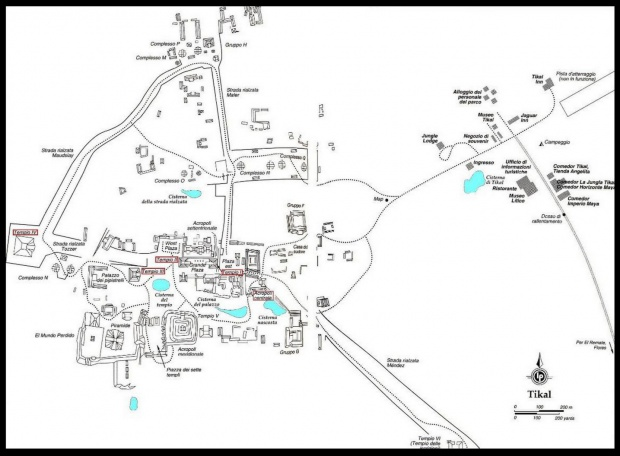 Mapa de Tikal