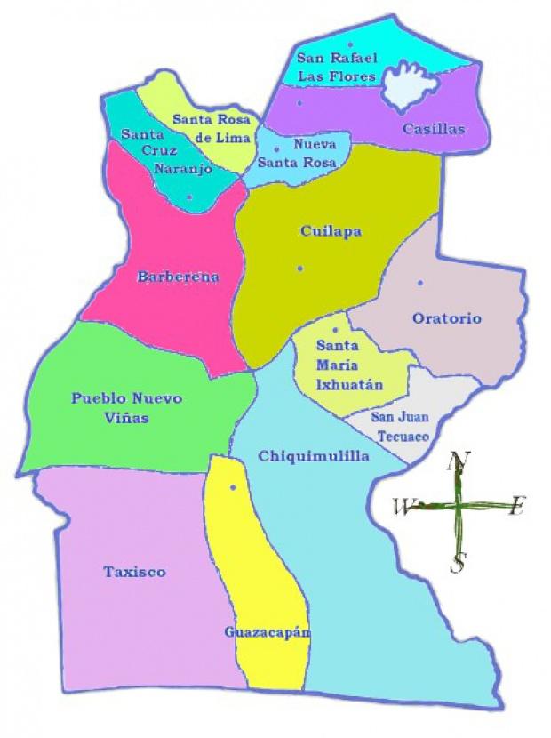 Mapa político de Santa Rosa