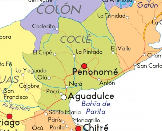 Mapa de Coclé