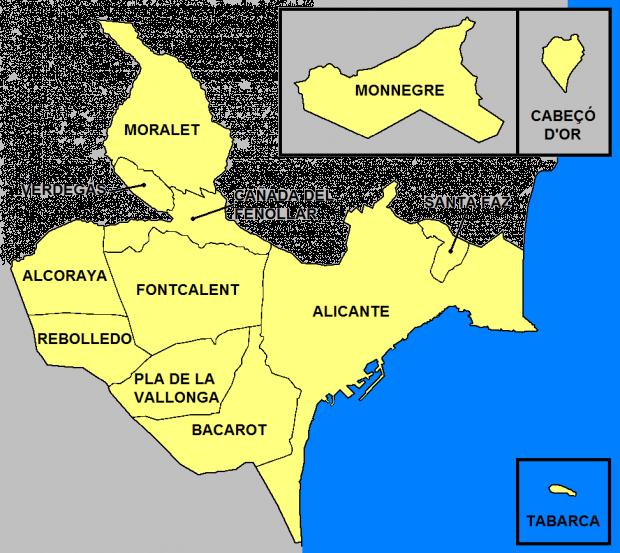 Entidades de población del término municipal de Alicante 2007