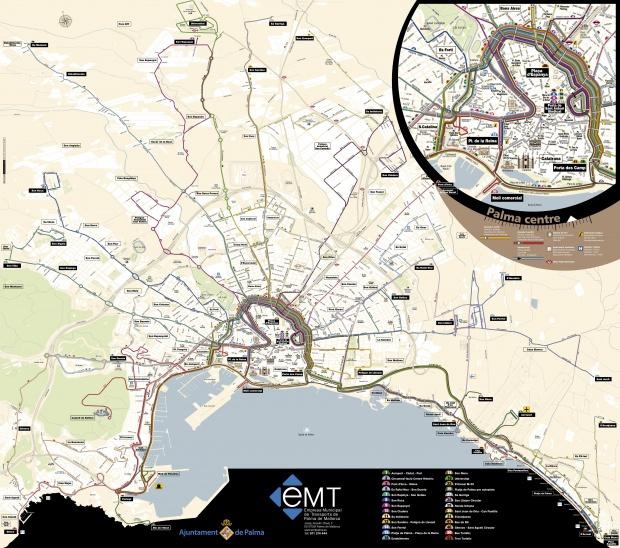 Itinerarios de autobuses de Palma de Mallorca 2008