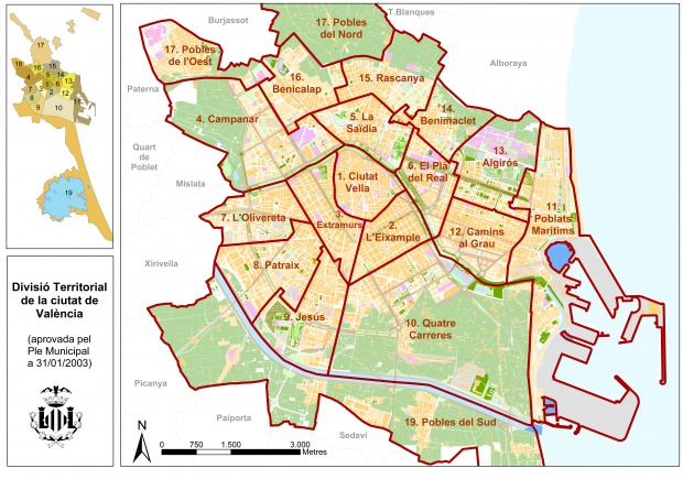 Distritos de la ciudad de Valencia