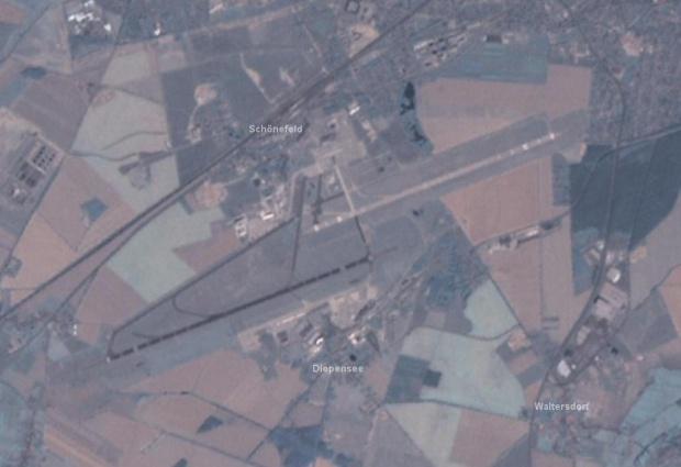 Lámina satelital del Mapa de Aeropuerto de Berlín-Schönefeld