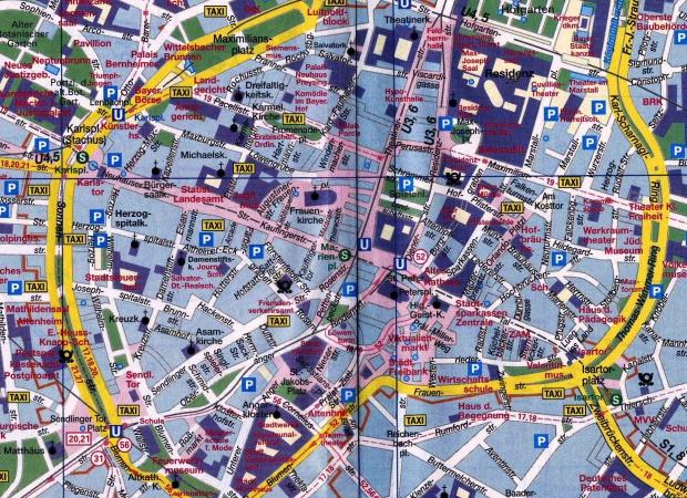 Mapa de Centro de Múnich