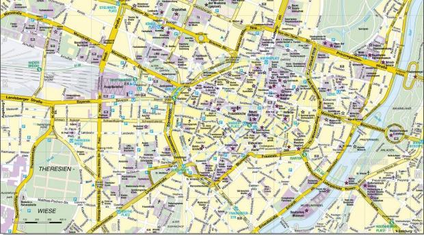 Mapa de Múnich en Alemania