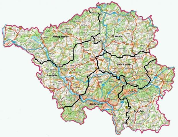 Mapa del Sarre