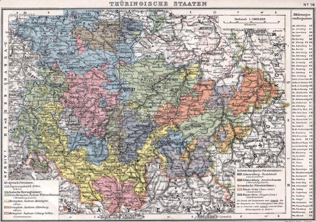 Mapa de Turingia 1905