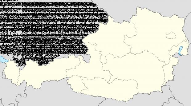 Mapa mudo de Austria