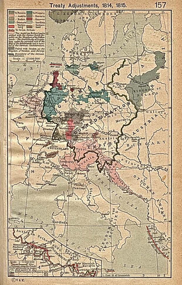 Cambios territoriales en Europa, Congreso de Viena 1815