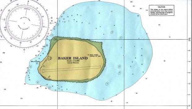 Carta Náutica de la Isla Baker