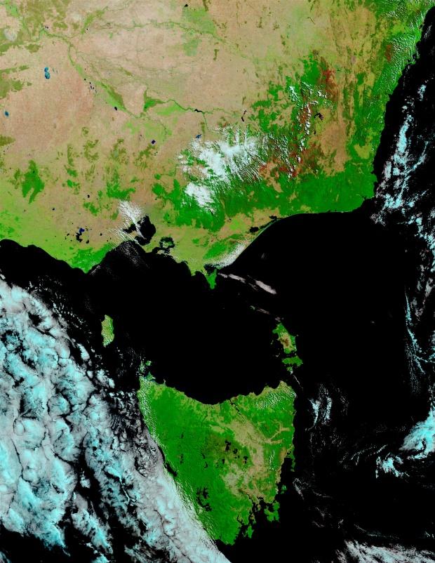 Cicatrices de fuegos en Australia suroriental y Tasmania