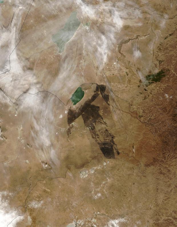Cicatriz de fuego en Mongolia Oriental