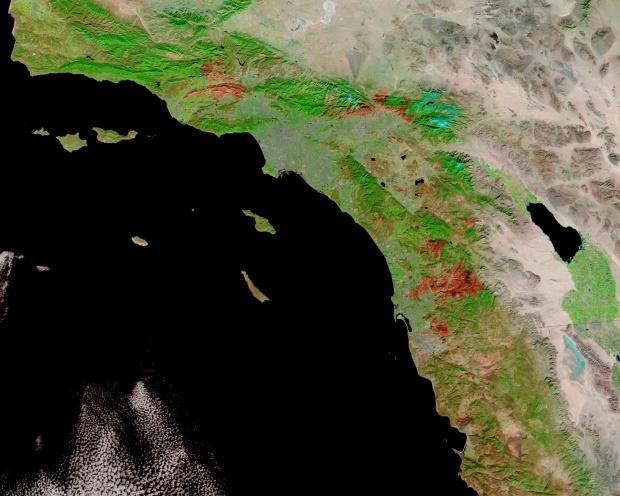 Cicatriz de incendio en California meridional