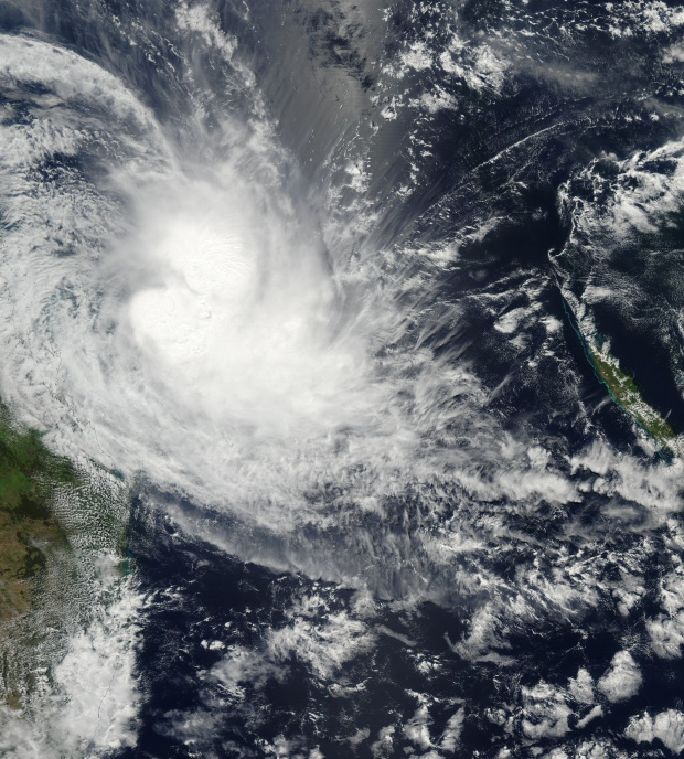 Ciclón tropical Erica (22P) cerca de Australia