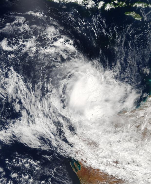 Ciclón tropical Inigo (26S) encima del norte de Australia