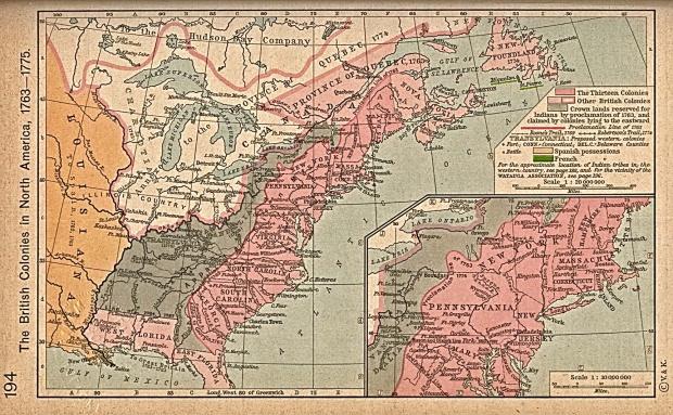 Colonias Británicas en América del Norte, 1763-1775
