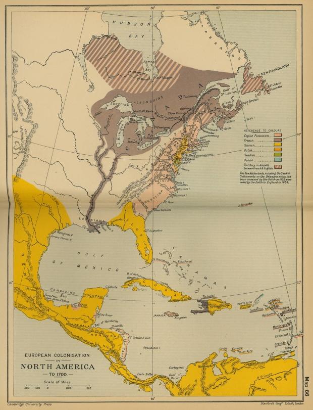 Colonización europea en América del Norte hasta 1700