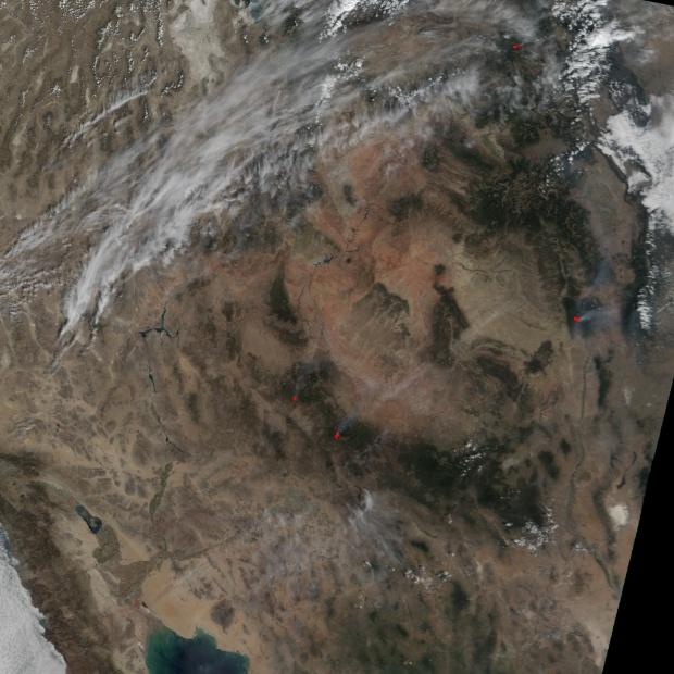 Complejo de incendios del Monte Zirkel en Colorado