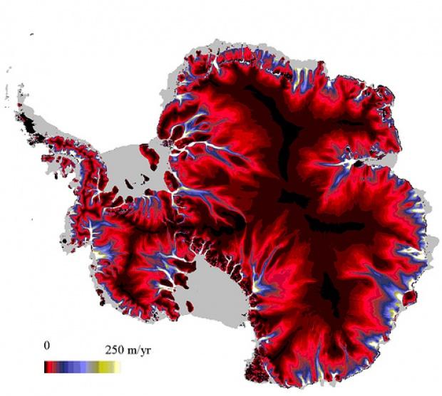 Corrientes de hielo en la Antártida 2009