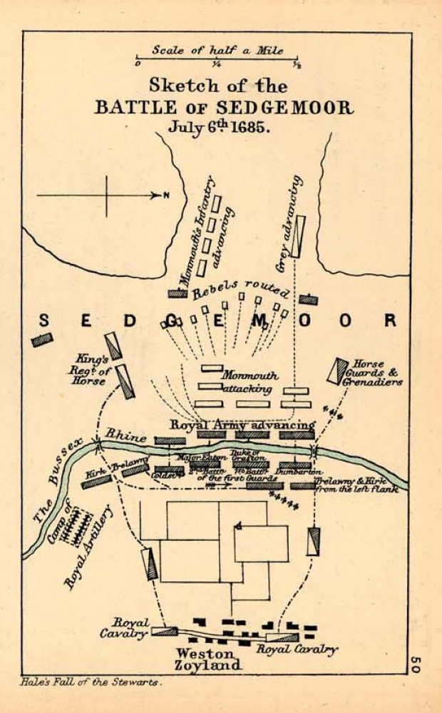 Croquis de la Batalla de Sedgemoor 1685