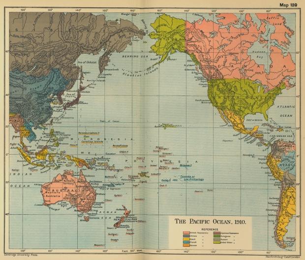 El Océano Pacífico en 1910