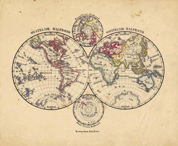 El mapa del mundo 1860