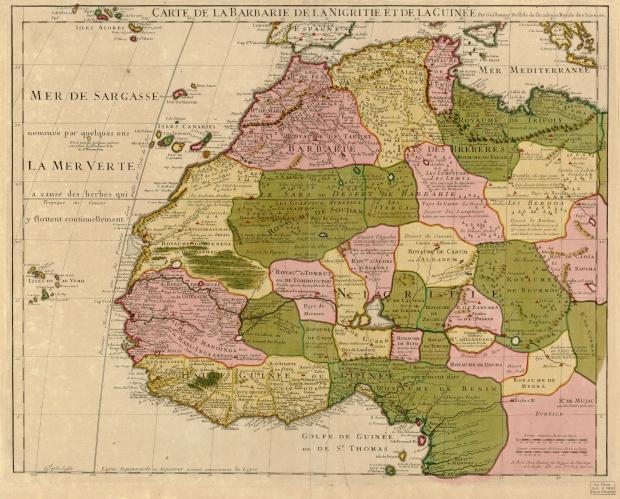 El noroeste de África 1707